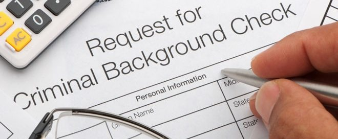Forletta - request for criminal background check